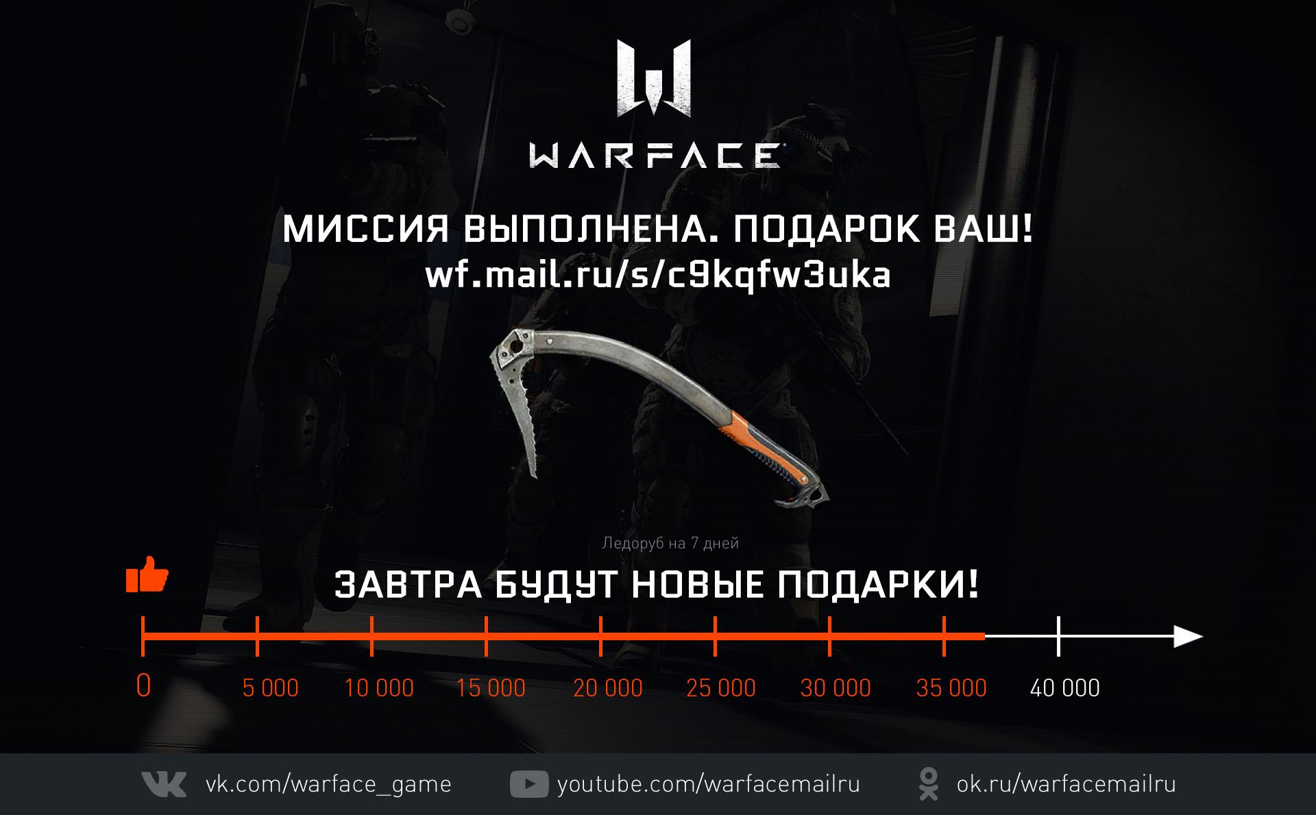 Как получить оружие на 30 дней в Варфейс? Забрать подарки Warface