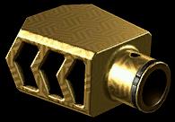 Золотой тактический пламегаситель CMS