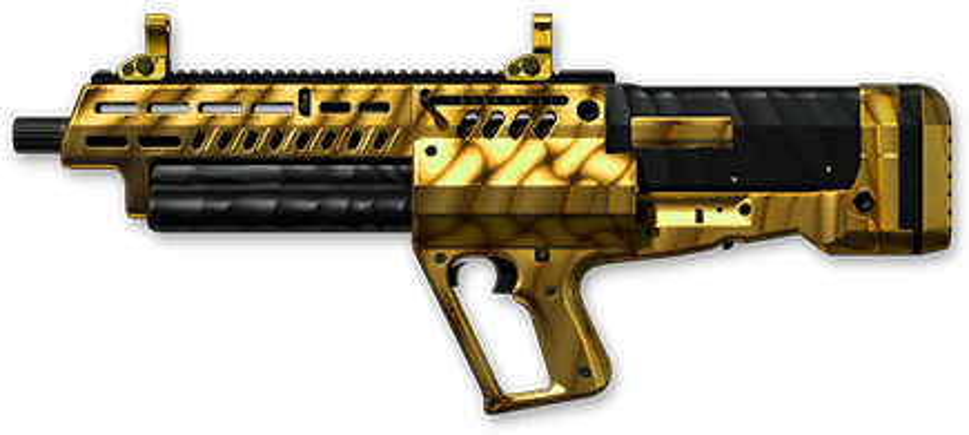 Золотой Tavor TS12 Custom