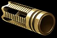Золотой штурмовой пламегаситель