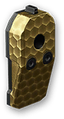 Золотой короткий глушитель Maxim 9