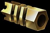 Золотой пламегаситель для пистолета