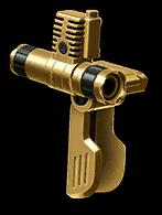 Золотая рукоятка с лазерным прицелом