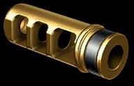 Золотой пламегаситель HArms CQR