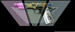 Камуфляж «Картель» / Лесной / Розовый  для Colt M1911A1