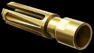 Золотой пламегаситель для снайперской винтовки