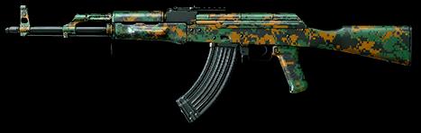 Лесной камуфляж для АК-47
