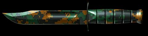 Камуфляж «Лес» для ножа Ka-Bar