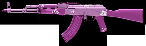 Розовый камуфляж для АК-47