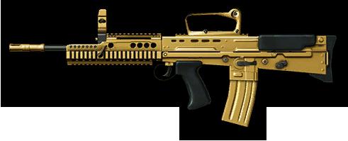 Золотая Enfield L85A2 Custom, 5000$