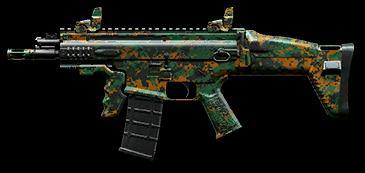 Лесной камуфляж для FN SCAR‐L PDW