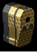 Золотой длинный глушитель Maxim 9